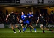 8 December 2018; James Lowe of Leinster in action against Tom Ellis, left, and Ruaridh McConnochie of Bath during the European Rugby Champions Cup Pool 1 Round 3 match between Bath and Leinster at the Recreation Ground in Bath, England. Photo by Ramsey Cardy/Sportsfile