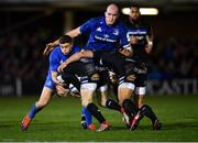8 December 2018; Ruaridh McConnochie of Bath is tackled by Jordan Larmour of Leinster during the European Rugby Champions Cup Pool 1 Round 3 match between Bath and Leinster at the Recreation Ground in Bath, England. Photo by Ramsey Cardy/Sportsfile