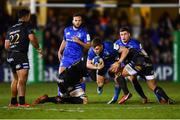 8 December 2018; Garry Ringrose of Leinster is tackled by Elliott Stooke, left, and Matt Garvey of Bath during the European Rugby Champions Cup Pool 1 Round 3 match between Bath and Leinster at the Recreation Ground in Bath, England. Photo by Ramsey Cardy/Sportsfile