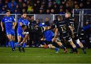 8 December 2018; Joe Cokanasiga of Bath is tackled by James Lowe of Leinster during the European Rugby Champions Cup Pool 1 Round 3 match between Bath and Leinster at the Recreation Ground in Bath, England. Photo by Ramsey Cardy/Sportsfile