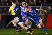 8 December 2018; Ruaridh McConnochie of Bath is tackled by Josh van der Flier of Leinster during the European Rugby Champions Cup Pool 1 Round 3 match between Bath and Leinster at the Recreation Ground in Bath, England. Photo by Ramsey Cardy/Sportsfile
