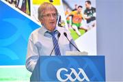 8 December 2018; Seamus Woods of Drumragh Sarsfields GAA Club, Tyrone, speaking during the National GAA Club Forum at Croke Park in Dublin. Photo by Brendan Moran/Sportsfile