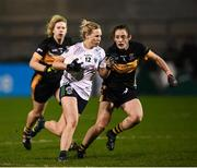 8 December 2018; Fiona Claffey of Foxrock-Cabinteely in action against Róisín O'Sullivan of Mourneabbey during the All-Ireland Ladies Football Senior Club Championship Final match between Foxrock-Cabinteely, Dublin, and Mourneabbey, Cork, at Parnell Park in Dublin. Photo by Stephen McCarthy/Sportsfile