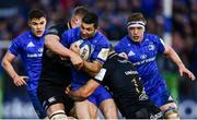 8 December 2018; Rob Kearney of Leinster is tackled by Sam Underhill, left, and Jamie Roberts of Bath during the European Rugby Champions Cup Pool 1 Round 3 match between Bath and Leinster at the Recreation Ground in Bath, England. Photo by Ramsey Cardy/Sportsfile