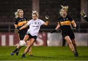 8 December 2018; Fiona Claffey of Foxrock-Cabinteely shoots to score her side's first goal during the All-Ireland Ladies Football Senior Club Championship Final match between Foxrock-Cabinteely, Dublin, and Mourneabbey, Cork, at Parnell Park in Dublin. Photo by Stephen McCarthy/Sportsfile