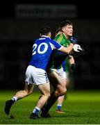 8 December 2018; Thomas O'Reilly of Meath is tackled by Ritchie Hitchcock of Laois during the O'Byrne Cup Round 1 match between Laois and Meath at O'Moore Park in Laois. Photo by Eóin Noonan/Sportsfile