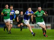 8 December 2018; Graham Reilly of Meath in action against Patrick O'Sullivan of Laois during the O'Byrne Cup Round 1 match between Laois and Meath at O'Moore Park in Laois. Photo by Eóin Noonan/Sportsfile