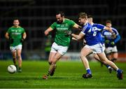 8 December 2018; Graham Reilly of Meath in action against Owen McDonnell of Laois during the O'Byrne Cup Round 1 match between Laois and Meath at O'Moore Park in Laois. Photo by Eóin Noonan/Sportsfile