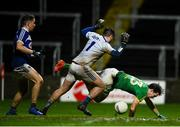 8 December 2018; Niall Hickey of Meath is tackled by Scott Osborne of Laois during the O'Byrne Cup Round 1 match between Laois and Meath at O'Moore Park in Laois. Photo by Eóin Noonan/Sportsfile