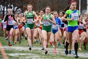 9 December 2018; Sarah Healy, right, and Emma O'Brien of Ireland competing in the U20 Women's event during the European Cross Country Championships at Beekse Bergen Safari Park in Tilburg, Netherlands. Photo by Sam Barnes/Sportsfile