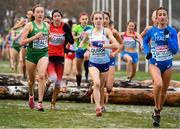 9 December 2018; Sarah Healy, far left, of Ireland competing in the U20 Women's event during the European Cross Country Championships at Beekse Bergen Safari Park in Tilburg, Netherlands. Photo by Sam Barnes/Sportsfile