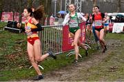 9 December 2018; Jodie McCann, centre, of Ireland competing in the U20 Women's event during the European Cross Country Championships at Beekse Bergen Safari Park in Tilburg, Netherlands. Photo by Sam Barnes/Sportsfile
