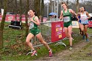 9 December 2018; Sarah Healy, left, and Emma O'Brien of Ireland competing in the U20 Women's event during the European Cross Country Championships at Beekse Bergen Safari Park in Tilburg, Netherlands. Photo by Sam Barnes/Sportsfile