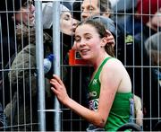 9 December 2018; Sarah Healy of Ireland after competing in the U20 Women's event during the European Cross Country Championships at Beekse Bergen Safari Park in Tilburg, Netherlands. Photo by Sam Barnes/Sportsfile