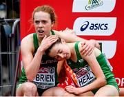 9 December 2018; Emma O'Brien, left, and Sarah Healy of Ireland after competing in the U20 Women's event during the European Cross Country Championships at Beekse Bergen Safari Park in Tilburg, Netherlands. Photo by Sam Barnes/Sportsfile
