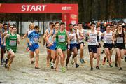 9 December 2018; Paul O'Donnell, far left, and Ryan Forsyth, centre, of Ireland competing in the U23 Men's event during the European Cross Country Championships at Beekse Bergen Safari Park in Tilburg, Netherlands. Photo by Sam Barnes/Sportsfile