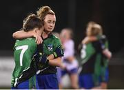 8 December 2018; A dejected Maeve Monaghan, 7, and Brid O'Sullivan of Emmet Óg following the All-Ireland Ladies Football Intermediate Club Championship Final match between Clontarf GAA, Dublin, and Emmet Óg, Monaghan, at Parnell Park in Dublin. Photo by Stephen McCarthy/Sportsfile