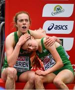9 December 2018; Emma O'Brien, left, and Sarah Healy of Ireland after competing in the U20 Women's during the European Cross Country Championships at Beekse Bergen Safari Park in Tilburg, Netherlands. Photo by Sam Barnes/Sportsfile