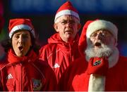 9 December 2018; Members of the Munster supporters choir sing prior to the European Rugby Champions Cup Pool 2 Round 3 match between Munster and Castres at Thomond Park in Limerick. Photo by Brendan Moran/Sportsfile