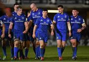 8 December 2018; Leinster players, from left, Josh van der Flier, James Ryan, Dan Leavy, Devin Toner, Luke McGrath, Jonathan Sexton and Tadhg Furlong during the European Rugby Champions Cup Pool 1 Round 3 match between Bath and Leinster at the Recreation Ground in Bath, England. Photo by Ramsey Cardy/Sportsfile