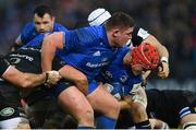 8 December 2018; Tadhg Furlong, left, and Josh van der Flier of Leinster during the European Rugby Champions Cup Pool 1 Round 3 match between Bath and Leinster at the Recreation Ground in Bath, England. Photo by Ramsey Cardy/Sportsfile