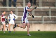 9 December 2018; Pat Burke of Kilmacud Crokes celebrates after scoring his side's firt goal during the AIB Leinster GAA Football Senior Club Championship Final match between Kilmacud Crokes and Mullinalaghta St Columba's at Bord na Móna O'Connor Park in Offaly. Photo by Daire Brennan/Sportsfile
