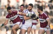 9 December 2018; Shane Horan of Kilmacud Crokes in action against Simon Cadam of Mullinalaghta St Columba's during the AIB Leinster GAA Football Senior Club Championship Final match between Kilmacud Crokes and Mullinalaghta St Columba's at Bord na Móna O'Connor Park in Offaly. Photo by Daire Brennan/Sportsfile