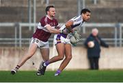9 December 2018; Craig Dias of Kilmacud Crokes in action against Dónal McElligott of Mullinalaghta St Columba's during the AIB Leinster GAA Football Senior Club Championship Final match between Kilmacud Crokes and Mullinalaghta St Columba's at Bord na Móna O'Connor Park in Offaly. Photo by Daire Brennan/Sportsfile