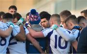 9 December 2018; Kilmacud Crokes joint-captain Cian O'Sullivan speaks to his players ahead of the AIB Leinster GAA Football Senior Club Championship Final match between Kilmacud Crokes and Mullinalaghta St Columba's at Bord na Móna O'Connor Park in Offaly. Photo by Daire Brennan/Sportsfile