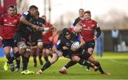 9 December 2018; Armand Batlle of Castres Olympique is tackled by Keith Earls of Munster during the European Rugby Champions Cup Pool 2 Round 3 match between Munster and Castres at Thomond Park in Limerick. Photo by Diarmuid Greene/Sportsfile