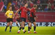 9 December 2018; Keith Earls of Munster gets a pat on the head from team-mate Conor Murray during the European Rugby Champions Cup Pool 2 Round 3 match between Munster and Castres at Thomond Park in Limerick. Photo by Diarmuid Greene/Sportsfile