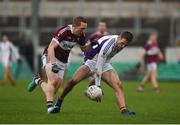 9 December 2018; Paul Mannion of Kilmacud Crokes in action against Patrick Fox of Mullinalaghta St Columba's during the AIB Leinster GAA Football Senior Club Championship Final match between Kilmacud Crokes and Mullinalaghta St Columba's at Bord na Móna O'Connor Park in Offaly. Photo by Daire Brennan/Sportsfile