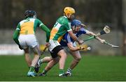 9 December 2018; Stephen Maher of Laois in action against Shane Kinsella of Offaly during the Walsh Cup Round 1 match between Offaly and Laois at St Brendan's Park in Offaly. Photo by David Fitzgerald/Sportsfile