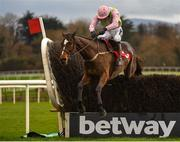9 December 2018; Min, with Ruby Walsh up, jumps the last on their way to winning the John Durkan Memorial Punchestown Steeplechase at Punchestown Racecourse in Naas, Co. Kildare. Photo by Seb Daly/Sportsfile