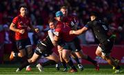 9 December 2018; Dave Kilcoyne of Munster is tackled by Kevin Firmin of Castres Olympique during the European Rugby Champions Cup Pool 2 Round 3 match between Munster and Castres at Thomond Park in Limerick. Photo by Brendan Moran/Sportsfile