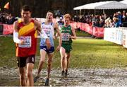 9 December 2018; Sean Tobin of Ireland, right, competing in the Senior Men's event during the European Cross Country Championship at Beekse Bergen Safari Park in Tilburg, Netherlands. Photo by Sam Barnes/Sportsfile
