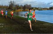 9 December 2018; Kevin Dooney of Ireland, centre, competing in the Senior Men's Event during the European Cross Country Championship at Beekse Bergen Safari Park in Tilburg, Netherlands. Photo by Sam Barnes/Sportsfile
