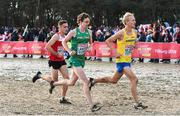 9 December 2018; Damien Landers of Ireland, centre, competing in the Senior Men's Event during the European Cross Country Championship at Beekse Bergen Safari Park in Tilburg, Netherlands. Photo by Sam Barnes/Sportsfile