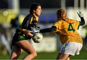 9 December 2018; Niamh McAllen of Glanmire in action against Sinéad Mooney of Tourlestrane during the All-Ireland Ladies Football Junior Club Championship Final match between Glanmire and Tourlestrane at Duggan Park in Galway. Photo by Piaras Ó Mídheach/Sportsfile