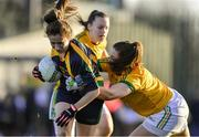 9 December 2018; Sarah O'Brien of Glanmire in action against Laura Walsh of Tourlestrane during the All-Ireland Ladies Football Junior Club Championship Final match between Glanmire and Tourlestrane at Duggan Park in Galway. Photo by Piaras Ó Mídheach/Sportsfile