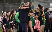 9 December 2018; Ellen Twomey of Glanmire, centre, celebrates after the All-Ireland Ladies Football Junior Club Championship Final match between Glanmire and Tourlestrane at Duggan Park in Galway. Photo by Piaras Ó Mídheach/Sportsfile