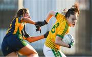 9 December 2018; Shauna Henry of Tourlestrane in action against Shauna Murphy of Glanmire during the All-Ireland Ladies Football Junior Club Championship Final match between Glanmire and Tourlestrane at Duggan Park in Galway. Photo by Piaras Ó Mídheach/Sportsfile