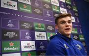 10 December 2018; Garry Ringrose speaking during a Leinster Rugby Press Conference at UCD in Dublin. Photo by David Fitzgerald/Sportsfile