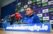 10 December 2018; Tadhg Furlong during a Leinster Rugby Press Conference at UCD in Dublin. Photo by David Fitzgerald/Sportsfile