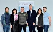 10 December 2018; John Delaney, CEO, Football Association of Ireland, with, from left, Andy Kavanagh, Helen Synnott, Paddy Carey, Caroline Walsh and Ronan Mee in attendance during the Official opening of the FAI-ETB Waterford Centre at Waterford I.T. in Waterford. Photo by Matt Browne/Sportsfile
