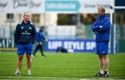 10 December 2018; Leinster head coach Leo Cullen, right, and senior coach Stuart Lancaster during Squad Training at Energia Park in Donnybrook, Dublin. Photo by David Fitzgerald/Sportsfile