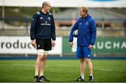 10 December 2018; Devin Toner, left, and head coach Leo Cullen during Leinster Squad Training at Energia Park in Donnybrook, Dublin. Photo by David Fitzgerald/Sportsfile