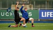 10 December 2018; Vakh Abdaladze, left, and Dan Leavy during Leinster Squad Training at Energia Park in Donnybrook, Dublin. Photo by David Fitzgerald/Sportsfile