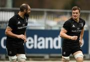 10 December 2018; Josh van der Flier, right, and Scott Fardy during Leinster Squad Training at Energia Park in Donnybrook, Dublin. Photo by David Fitzgerald/Sportsfile