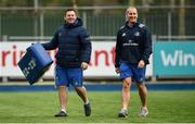 10 December 2018; Leinster senior coach Stuart Lancaster, right, and scrum coach John Fogarty during Squad Training at Energia Park in Donnybrook, Dublin. Photo by David Fitzgerald/Sportsfile